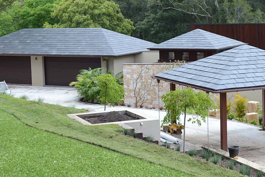 Nulok Global New Zealand - Natural Slate Patio and Garage